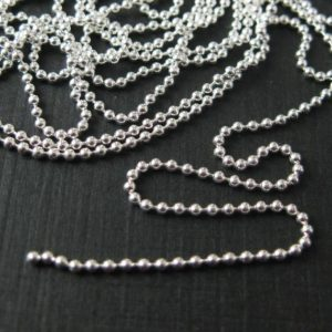Shop Chain for Jewelry Making! Sterling Silver Chain-silver Bulk Chain, silver Chain Wholesale, supplies, Beaded Chain, Beading Chain-ball Chain 1.2mm(5 Feet)-sku: 101050 | Shop jewelry making and beading supplies, tools & findings for DIY jewelry making and crafts. #jewelrymaking #diyjewelry #jewelrycrafts #jewelrysupplies #beading #affiliate #ad