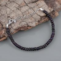 Dark Sugilite Bracelet Boho Bracelet Birthday Gift Anniversary Gift Bracelet For Women Party Wear Bracelet Gemstone Beads Bracelet | Natural genuine Gemstone jewelry. Buy crystal jewelry, handmade handcrafted artisan jewelry for women.  Unique handmade gift ideas. #jewelry #beadedjewelry #beadedjewelry #gift #shopping #handmadejewelry #fashion #style #product #jewelry #affiliate #ad