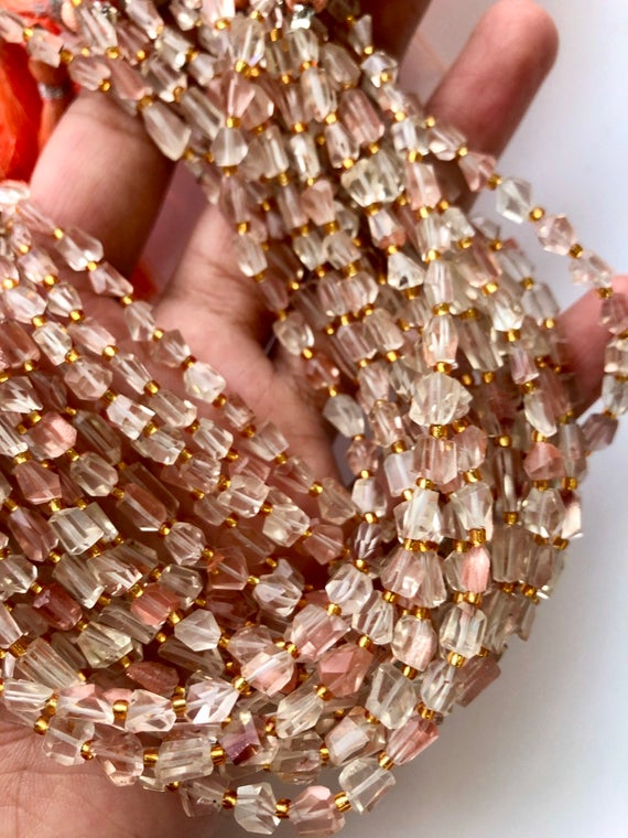 Top Quality Aaa++ Oregon Sunstone Faceted Nugget Beads, High Quality Oregon Sunstone, Oregon Sunstone Beads, Oregon Sunstone Nuggets