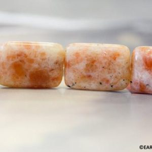 Shop Sunstone Bead Shapes! XL/ Indian Sunstone 22x30mm/ 24x28mm Flat Rectangle. Natural Orange Color Semi-precious stone large size Rectangle beads Large drilled hole | Natural genuine other-shape Sunstone beads for beading and jewelry making.  #jewelry #beads #beadedjewelry #diyjewelry #jewelrymaking #beadstore #beading #affiliate #ad