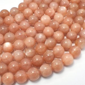 Shop Sunstone Round Beads! Sunstone Beads, 8mm (8.5mm) Round Beads, 15.5 Inch, Full strand, Approx 47-49 beads, Hole 1mm (418054015) | Natural genuine round Sunstone beads for beading and jewelry making.  #jewelry #beads #beadedjewelry #diyjewelry #jewelrymaking #beadstore #beading #affiliate #ad