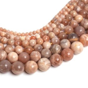 Shop Sunstone Round Beads! Sunstone Beads, Natural Gemstone Beads, Smooth Round Stone Beads 6mm 8mm 10mm 12mm 14mm 15'' | Natural genuine round Sunstone beads for beading and jewelry making.  #jewelry #beads #beadedjewelry #diyjewelry #jewelrymaking #beadstore #beading #affiliate #ad