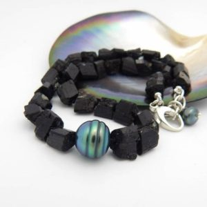 Shop Black Tourmaline Necklaces! Tahitian Pearl and Natural Black Tourmaline Necklace   Natural genuine Black Tourmaline necklaces. Buy crystal jewelry, handmade handcrafted artisan jewelry for women.  Unique handmade gift ideas. #jewelry #beadednecklaces #beadedjewelry #gift #shopping #handmadejewelry #fashion #style #product #necklaces #affiliate #ad