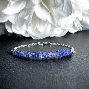 Tanzanite Empath Protection Bracelet – Calming Bracelets, Gift for Her, December Birthstone, Emapth Anxiety, Healing Crystals, Her Gift | Natural genuine Tanzanite bracelets. Buy crystal jewelry, handmade handcrafted artisan jewelry for women.  Unique handmade gift ideas. #jewelry #beadedbracelets #beadedjewelry #gift #shopping #handmadejewelry #fashion #style #product #bracelets #affiliate #ad