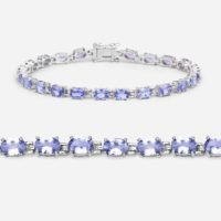 Tanzanite Bracelet, Natural Tanzanite Oval Tennis Bracelet In .925 Sterling Silver With Rhodium Plating, December Birthstone   Natural genuine Gemstone jewelry. Buy crystal jewelry, handmade handcrafted artisan jewelry for women.  Unique handmade gift ideas. #jewelry #beadedjewelry #beadedjewelry #gift #shopping #handmadejewelry #fashion #style #product #jewelry #affiliate #ad
