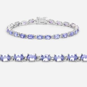 Shop Tanzanite Bracelets! Tanzanite Bracelet, Natural Tanzanite Oval Tennis Bracelet in .925 Sterling Silver with Rhodium Plating, December Birthstone | Natural genuine Tanzanite bracelets. Buy crystal jewelry, handmade handcrafted artisan jewelry for women.  Unique handmade gift ideas. #jewelry #beadedbracelets #beadedjewelry #gift #shopping #handmadejewelry #fashion #style #product #bracelets #affiliate #ad