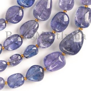 Shop Tanzanite Chip & Nugget Beads! Tanzanite Beads, Tanzanite Smooth Beads, Tanzanite Nugget Shape Beads, Tanzanite Plain Nugget Beads, Tanzanite Smooth Nugget Shape Beads | Natural genuine chip Tanzanite beads for beading and jewelry making.  #jewelry #beads #beadedjewelry #diyjewelry #jewelrymaking #beadstore #beading #affiliate #ad