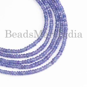 Tanzanite Beads, Blue Tanzanite Beads, Tanzanite Rondelle Beads, Tanzanite Faceted Rondelle Beads, Tanzanite Gemstone Beads, Tanzanite | Natural genuine beads Array beads for beading and jewelry making.  #jewelry #beads #beadedjewelry #diyjewelry #jewelrymaking #beadstore #beading #affiliate #ad