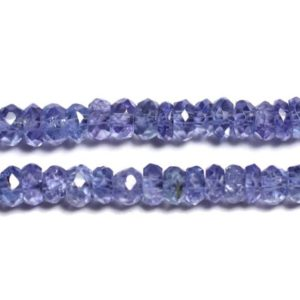 Shop Tanzanite Faceted Beads! Wire 33cm 200pc env – stone beads – faceted Tanzanite Rondelles 2.5×1.5mm – 4558550091017 | Natural genuine faceted Tanzanite beads for beading and jewelry making.  #jewelry #beads #beadedjewelry #diyjewelry #jewelrymaking #beadstore #beading #affiliate #ad