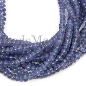 Shop Tanzanite Rondelle Beads! Tanzanite Smooth Rondelle Shape Gemstone Beads, Tanzanite Plain Beads, Tanzanite Smooth Rondelle Beads, Tanzanite Beads, Tanzanite | Natural genuine rondelle Tanzanite beads for beading and jewelry making.  #jewelry #beads #beadedjewelry #diyjewelry #jewelrymaking #beadstore #beading #affiliate #ad