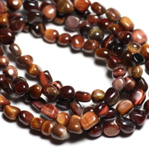 Shop Tiger Eye Chip & Nugget Beads! 10pc – stone beads – Tiger eye and Taurus Nuggets 7-10mm – 4558550081957 | Natural genuine chip Tiger Eye beads for beading and jewelry making.  #jewelry #beads #beadedjewelry #diyjewelry #jewelrymaking #beadstore #beading #affiliate #ad