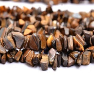 Shop Tiger Eye Chip & Nugget Beads! AAA Yellow Tiger Eye Gemstone Uncut Chips 6mm Beads Necklace | 34inch Strand | Semi Precious Gemstone Smooth Nuggets | Jewelry Making Supply | Natural genuine chip Tiger Eye beads for beading and jewelry making.  #jewelry #beads #beadedjewelry #diyjewelry #jewelrymaking #beadstore #beading #affiliate #ad