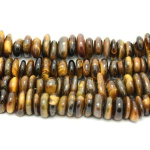 Shop Tiger Eye Chip & Nugget Beads! Wire 39cm 100pc env – stone beads – Chips shuffleboard pucks 8-14mm Tiger eye | Natural genuine chip Tiger Eye beads for beading and jewelry making.  #jewelry #beads #beadedjewelry #diyjewelry #jewelrymaking #beadstore #beading #affiliate #ad