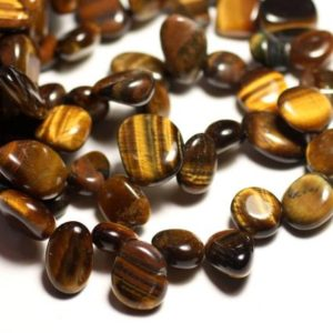 Shop Tiger Eye Chip & Nugget Beads! Wire 39cm 50pc – stone beads – approx 8-14mm chip Tiger eye | Natural genuine chip Tiger Eye beads for beading and jewelry making.  #jewelry #beads #beadedjewelry #diyjewelry #jewelrymaking #beadstore #beading #affiliate #ad