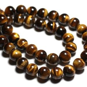 Shop Tiger Eye Bead Shapes! 10pc – stone beads – Tiger eye 6mm 4558550038791 balls | Natural genuine other-shape Tiger Eye beads for beading and jewelry making.  #jewelry #beads #beadedjewelry #diyjewelry #jewelrymaking #beadstore #beading #affiliate #ad