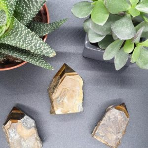 Shop Tiger Eye Points & Wands! TIGER'S EYE/ Raw Crystal Point | Natural genuine stones & crystals in various shapes & sizes. Buy raw cut, tumbled, or polished gemstones for making jewelry or crystal healing energy vibration raising reiki stones. #crystals #gemstones #crystalhealing #crystalsandgemstones #energyhealing #affiliate #ad