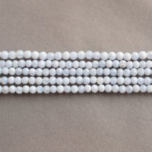 Shop Blue Lace Agate Rondelle Beads! Tiny blue lace agate beads, Grade A, rondelle, full strand, tiny natural blue calcedony loose beads strand | Natural genuine rondelle Blue Lace Agate beads for beading and jewelry making.  #jewelry #beads #beadedjewelry #diyjewelry #jewelrymaking #beadstore #beading #affiliate #ad
