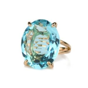 Shop Topaz Rings! Rose Gold Ring · Blue Topaz Ring · Oval Ring · October Birthstone Ring · Deep Blue Ring · 14k Rose Gold Filled Ring · Prong Ring | Natural genuine Topaz rings, simple unique handcrafted gemstone rings. #rings #jewelry #shopping #gift #handmade #fashion #style #affiliate #ad