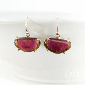Shop Tourmaline Earrings! Rose Gold Watermelon Earrings Tourmaline, Wine Red Tourmaline, Gifts for Her | Natural genuine Tourmaline earrings. Buy crystal jewelry, handmade handcrafted artisan jewelry for women.  Unique handmade gift ideas. #jewelry #beadedearrings #beadedjewelry #gift #shopping #handmadejewelry #fashion #style #product #earrings #affiliate #ad
