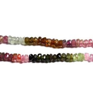 Shop Tourmaline Faceted Beads! Wire 150pc env – stone beads – Tourmaline multicolor Rondelle faceted 3x2mm – 4558550091062 | Natural genuine faceted Tourmaline beads for beading and jewelry making.  #jewelry #beads #beadedjewelry #diyjewelry #jewelrymaking #beadstore #beading #affiliate #ad