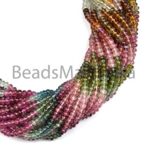 Shop Tourmaline Rondelle Beads! Multi Tourmaline Plain Rondelle Beads, Multi Tourmaline Smooth Beads, Rondelle (4-5mm) Plain Beads, Multi Tourmaline Rondelle Beads | Natural genuine rondelle Tourmaline beads for beading and jewelry making.  #jewelry #beads #beadedjewelry #diyjewelry #jewelrymaking #beadstore #beading #affiliate #ad