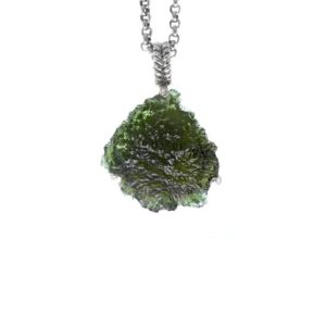 Shop Moldavite Necklaces! Triangle Shaped Moldavite Necklace for women, Moldavite Pendant, Moldavite Jewelry Gift, Aniversary Gift, Gift for Girlfriend, Gift for Her | Natural genuine Moldavite necklaces. Buy crystal jewelry, handmade handcrafted artisan jewelry for women.  Unique handmade gift ideas. #jewelry #beadednecklaces #beadedjewelry #gift #shopping #handmadejewelry #fashion #style #product #necklaces #affiliate #ad