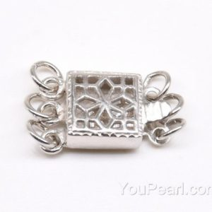Shop Findings for Jewelry Making! Triple strand clasps, 925 sterling silver findings, filigree box clasp, elastic clasp, pearl clasp, jewelry clasps, 8mm, CS1032 | Shop jewelry making and beading supplies, tools & findings for DIY jewelry making and crafts. #jewelrymaking #diyjewelry #jewelrycrafts #jewelrysupplies #beading #affiliate #ad