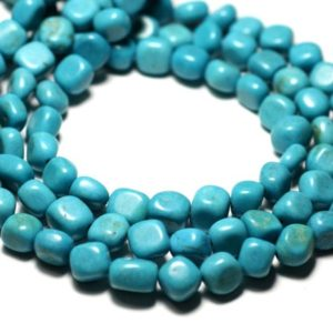 Shop Turquoise Chip & Nugget Beads! 20pc – stone beads – Turquoise Nuggets pebbles 7-10mm – 8741140014336 synthesis | Natural genuine chip Turquoise beads for beading and jewelry making.  #jewelry #beads #beadedjewelry #diyjewelry #jewelrymaking #beadstore #beading #affiliate #ad