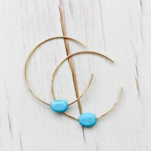 Shop Turquoise Earrings! Turquoise Hoops Turquoise Jewelry Turquoise Earrings Gemstone Jewelry | Natural genuine Turquoise earrings. Buy crystal jewelry, handmade handcrafted artisan jewelry for women.  Unique handmade gift ideas. #jewelry #beadedearrings #beadedjewelry #gift #shopping #handmadejewelry #fashion #style #product #earrings #affiliate #ad