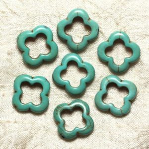 Bag – Turquoise beads – 20mm blue Turquoise 4558550034908 flowers 10pc | Natural genuine other-shape Gemstone beads for beading and jewelry making.  #jewelry #beads #beadedjewelry #diyjewelry #jewelrymaking #beadstore #beading #affiliate #ad