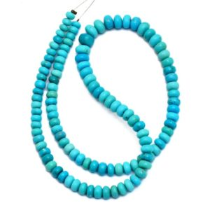 Shop Turquoise Rondelle Beads! AAA+ Turquoise Gemstone 4mm-6mm Smooth Rondelle Beads   14inch Strand   Natural Arizona Rare Turquoise Semi Precious Gemstone Loose Beads   Natural genuine rondelle Turquoise beads for beading and jewelry making.  #jewelry #beads #beadedjewelry #diyjewelry #jewelrymaking #beadstore #beading #affiliate #ad