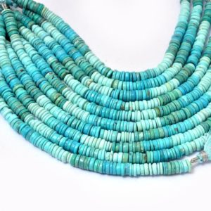 Shop Turquoise Rondelle Beads! AAA+ Natural Multi Turquoise 7mm-8mm Heishi Smooth Beads   8inch Strand   Arizona Turquoise Gemstone Disc / Coin / Tyre Rondelle Beads   Natural genuine rondelle Turquoise beads for beading and jewelry making.  #jewelry #beads #beadedjewelry #diyjewelry #jewelrymaking #beadstore #beading #affiliate #ad