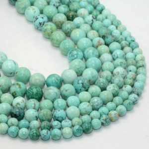 Shop Turquoise Round Beads! Peru Turquoise Beads, Natural Gemstone Beads, Round Loose Stone Beads For Jewelry Making 6mm 8mm 10mm | Natural genuine round Turquoise beads for beading and jewelry making.  #jewelry #beads #beadedjewelry #diyjewelry #jewelrymaking #beadstore #beading #affiliate #ad