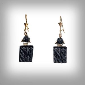 Shop Jet Earrings! Victorian 14k and Lignite jet earrings | Natural genuine Jet earrings. Buy crystal jewelry, handmade handcrafted artisan jewelry for women.  Unique handmade gift ideas. #jewelry #beadedearrings #beadedjewelry #gift #shopping #handmadejewelry #fashion #style #product #earrings #affiliate #ad