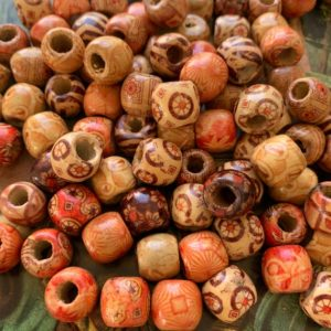 Shop Beads With Large Holes! Vintage | 75 WOOD Beads | Natural Wood Beads | Bohemian Beads | Large Hole Beads | Mixed Pattern Beads | X1116 | Shop jewelry making and beading supplies, tools & findings for DIY jewelry making and crafts. #jewelrymaking #diyjewelry #jewelrycrafts #jewelrysupplies #beading #affiliate #ad