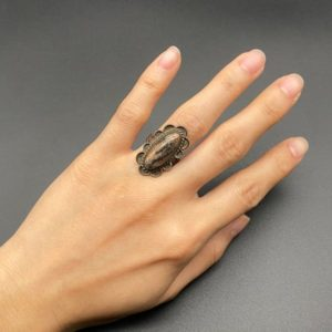 Shop Petrified Wood Rings! Vintage Southwestern Sterling Silver Petrified Wood Ring Size 6 | Natural genuine Petrified Wood rings, simple unique handcrafted gemstone rings. #rings #jewelry #shopping #gift #handmade #fashion #style #affiliate #ad