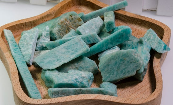 Wholesale Amazonite Raw Natural Stone Loose Points/beads For Jewelry Making/gift-decor-pendant-necklace-bracelet