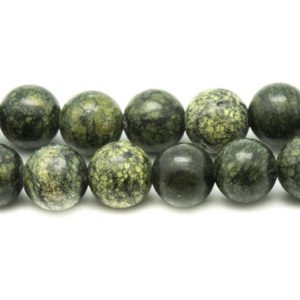 Shop Serpentine Round Beads! Wire 31pc – beads of stone – Serpentine balls 12 mm approx 39cm   Natural genuine round Serpentine beads for beading and jewelry making.  #jewelry #beads #beadedjewelry #diyjewelry #jewelrymaking #beadstore #beading #affiliate #ad