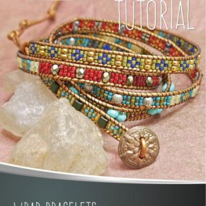 Shop Jewelry Making Kits! Wrap Bracelet Tutorial. Beadwork Pattern Leather Bracelet. By Esther Marker. Instant Digital Download PDF | Shop jewelry making and beading supplies, tools & findings for DIY jewelry making and crafts. #jewelrymaking #diyjewelry #jewelrycrafts #jewelrysupplies #beading #affiliate #ad