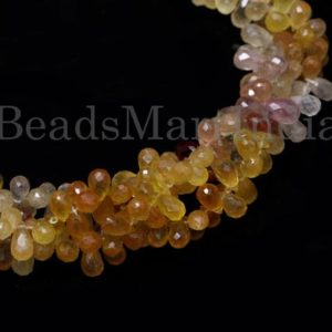 Shop Yellow Sapphire Beads! Yellow Sapphire Faceted Drop Shape Gemstone Beads, Yellow Sapphire Beads, Yellow Sapphire Faceted Beads, Yellow Sapphire Natural Beads | Natural genuine faceted Yellow Sapphire beads for beading and jewelry making.  #jewelry #beads #beadedjewelry #diyjewelry #jewelrymaking #beadstore #beading #affiliate #ad