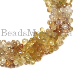 Shop Yellow Sapphire Beads! High Quality Yellow Sapphire Faceted Drop Shape Beads, Yellow Sapphire Faceted Beads, Yellow Sapphire Drop Shape Beads Natural Beads | Natural genuine faceted Yellow Sapphire beads for beading and jewelry making.  #jewelry #beads #beadedjewelry #diyjewelry #jewelrymaking #beadstore #beading #affiliate #ad