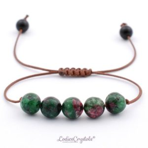 Shop Ruby Zoisite Bracelets! Yoga Energy, Ruby Zoisite Bracelet, Anyolite Adjustable Transformation Bracelet, Energizing Ruby Zoisite Bead Bracelet, Shambala Dalmatian | Natural genuine Ruby Zoisite bracelets. Buy crystal jewelry, handmade handcrafted artisan jewelry for women.  Unique handmade gift ideas. #jewelry #beadedbracelets #beadedjewelry #gift #shopping #handmadejewelry #fashion #style #product #bracelets #affiliate #ad