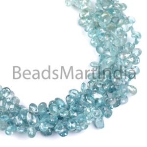 Shop Zircon Beads! Blue Zircon Faceted Pears Shape Beads, Natural Blue Zircon Pears Shape Beads Side Drill, Blue Zircon Fancy Pears Beads, Zircon Fancy Bead   Natural genuine faceted Zircon beads for beading and jewelry making.  #jewelry #beads #beadedjewelry #diyjewelry #jewelrymaking #beadstore #beading #affiliate #ad