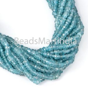 Shop Zircon Beads! Blue Zircon Faceted Rondelle Shape Beads, Natural Blue Zircon Rondelle Shape Beads, Blue Zircon Natural  Faceted Beads   Natural genuine faceted Zircon beads for beading and jewelry making.  #jewelry #beads #beadedjewelry #diyjewelry #jewelrymaking #beadstore #beading #affiliate #ad