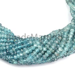Shop Zircon Beads! Blue Zircon Shaded Faceted Rondelle Shape Beads, Natural Blue Zircon Rondelle Shape Beads, Blue Zircon Natural Shaded Faceted Beads   Natural genuine faceted Zircon beads for beading and jewelry making.  #jewelry #beads #beadedjewelry #diyjewelry #jewelrymaking #beadstore #beading #affiliate #ad