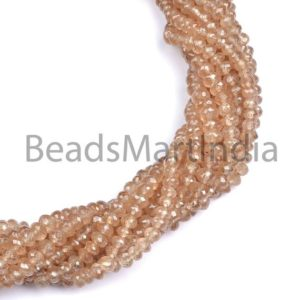 Shop Zircon Beads! Brown Zircon Faceted Rondelle Shape Beads, Brown Zircon Natural Faceted Rondelle Beads, Brown Color Zircon Natural Beads,Natural Zircon Bead   Natural genuine faceted Zircon beads for beading and jewelry making.  #jewelry #beads #beadedjewelry #diyjewelry #jewelrymaking #beadstore #beading #affiliate #ad