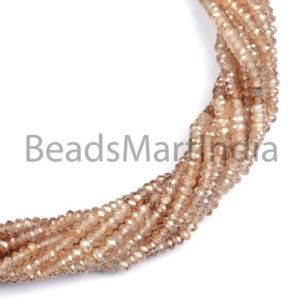 Shop Zircon Beads! Brown Zircon Shaded Machine Cut Faceted Rondelle Shape Beads, Brown Zircon Natural Shaded Diamond Cut Beads, Brown Color Zircon Natural Bead   Natural genuine faceted Zircon beads for beading and jewelry making.  #jewelry #beads #beadedjewelry #diyjewelry #jewelrymaking #beadstore #beading #affiliate #ad