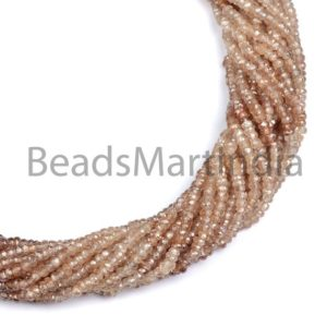 Shop Zircon Beads! Brown Zircon Shaded Faceted Rondelle Shape Beads, Brown Zircon Natural Indian Cut Faceted Rondelle Beads, Brown Color Zircon Natural Beads   Natural genuine faceted Zircon beads for beading and jewelry making.  #jewelry #beads #beadedjewelry #diyjewelry #jewelrymaking #beadstore #beading #affiliate #ad