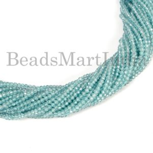Shop Zircon Beads! Natural Blue Zircon Faceted Round Shape Gemstone Beads, Blue Zircon Faceted Beads, Blue Zircon Round Beads, Blue Zircon Faceted Beads   Natural genuine faceted Zircon beads for beading and jewelry making.  #jewelry #beads #beadedjewelry #diyjewelry #jewelrymaking #beadstore #beading #affiliate #ad