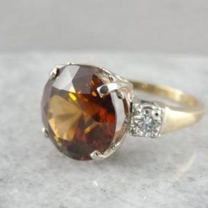 Shop Zircon Rings! Golden Zircon Cocktail Ring, Refined Retro Era Finery! W67QND   Natural genuine Zircon rings, simple unique handcrafted gemstone rings. #rings #jewelry #shopping #gift #handmade #fashion #style #affiliate #ad